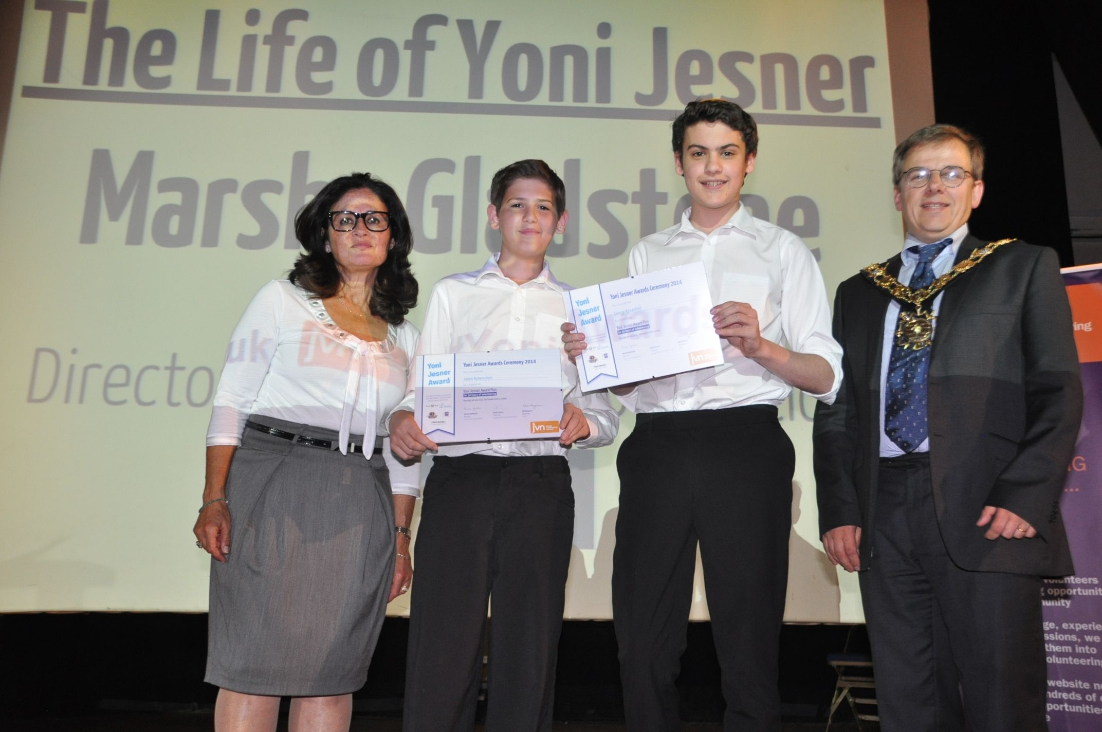 Yoni Jesner Awards 2014